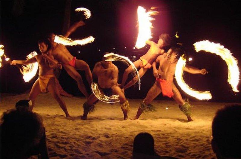 Polynesian Fire Dancers Bora Bora