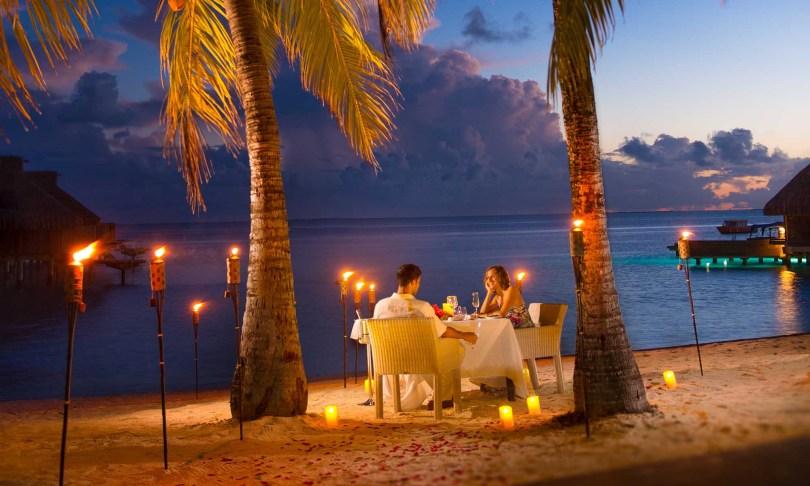 Romantic Dinner in Bora Bora