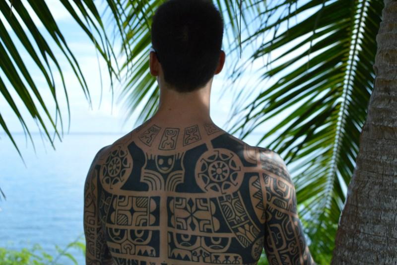 Tatoo in Tahiti Island