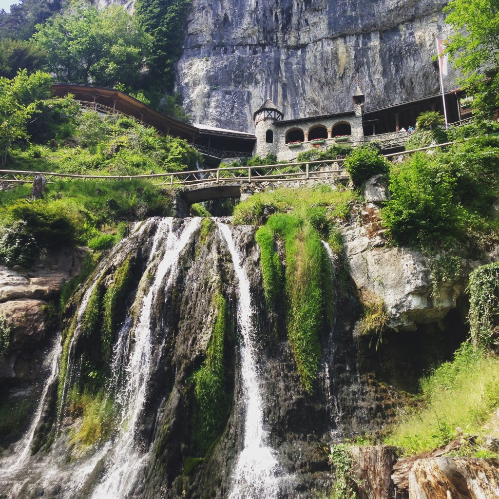 Visit St. Beatus Caves and waterfalls in Interlaken