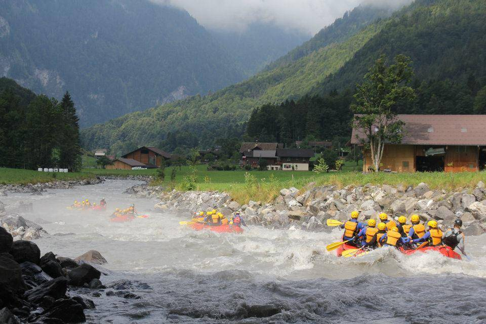 White Water Rafting on LÜtschine River in Interlaken