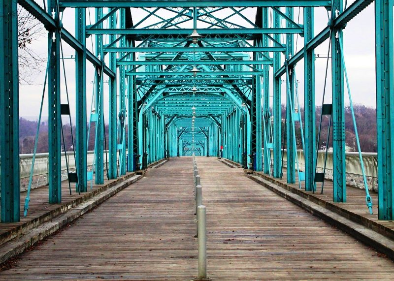 Walk on the Walnut Street Bridge Chattanooga Tennessee
