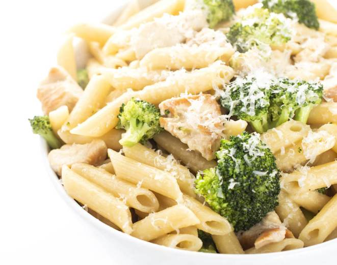 Camping Food Ideas Lemon Broccoli and Pasta Mix