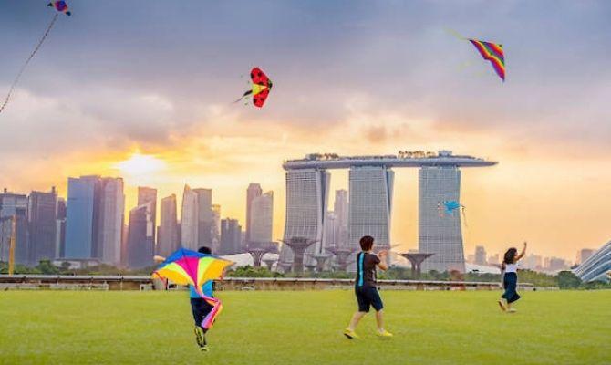 Kite Flying in Marina Barrage