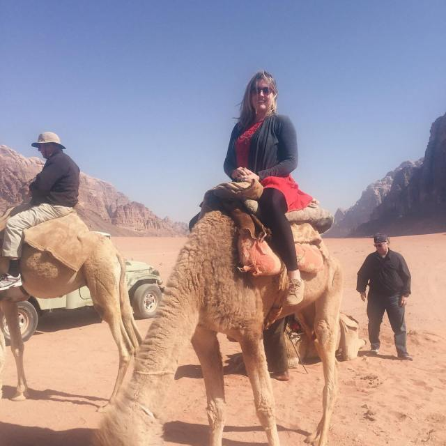 Riding camels in Wadi Rum! This is FooFoo jo myjordanjourneyhellip