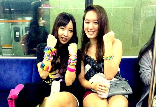 Me and new friend/trance lover Ayano. I was surprised about the presence of Kandi in Japan. I think it's something that some Japanese adopted from Americans, and they do it very well! To think of it, kandi is very Japanese-y