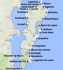 The beaches of Floripa