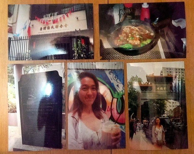 """Old school """"PicStitch"""" due to stolen cellphone. Clockwise from top left: The Taiwanese Association of BsAs, Beef Noodle Soup at Resto Apu, the Chinatown Gate, Selfie with Taiwanese Milk Tea, and a tablet celebrating the Chinese community in Buenos Aires."""