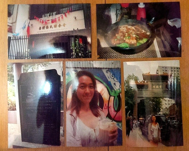 "Old school ""PicStitch"" due to stolen cellphone. Clockwise from top left: The Taiwanese Association of BsAs, Beef Noodle Soup at Resto Apu, the Chinatown Gate, Selfie with Taiwanese Milk Tea, and a tablet celebrating the Chinese community in Buenos Aires."