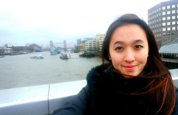 A selfie with the tower bridge on the unspecial London Bridge