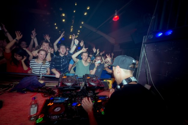Boys Noize ripping it up. Source: Vice.