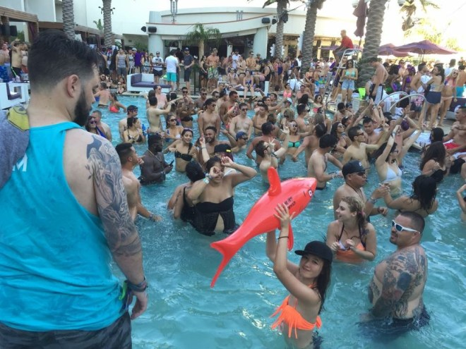 @ Marquee Day Club. I love animal floaties!!