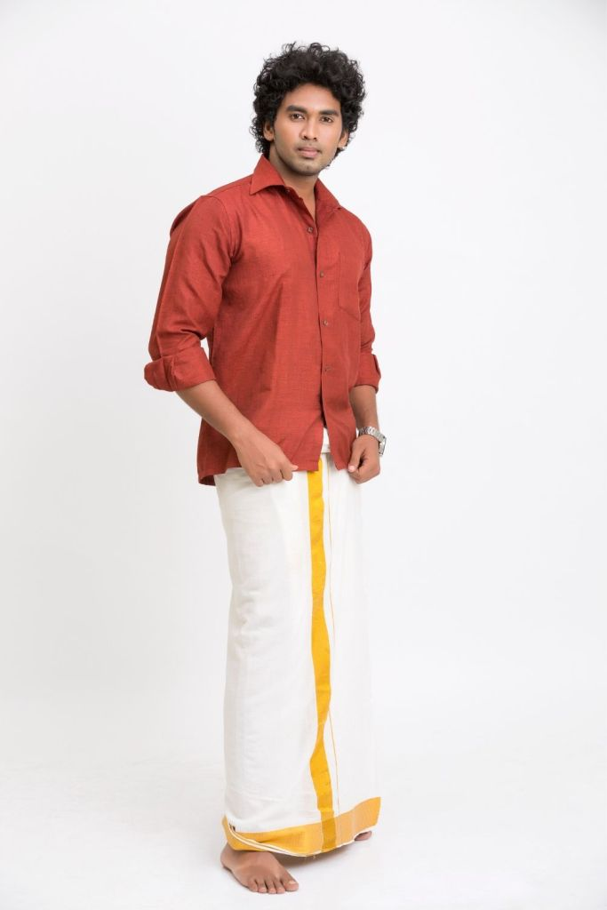 Silk Lungi with cotton shirt | Traditional clothes of India