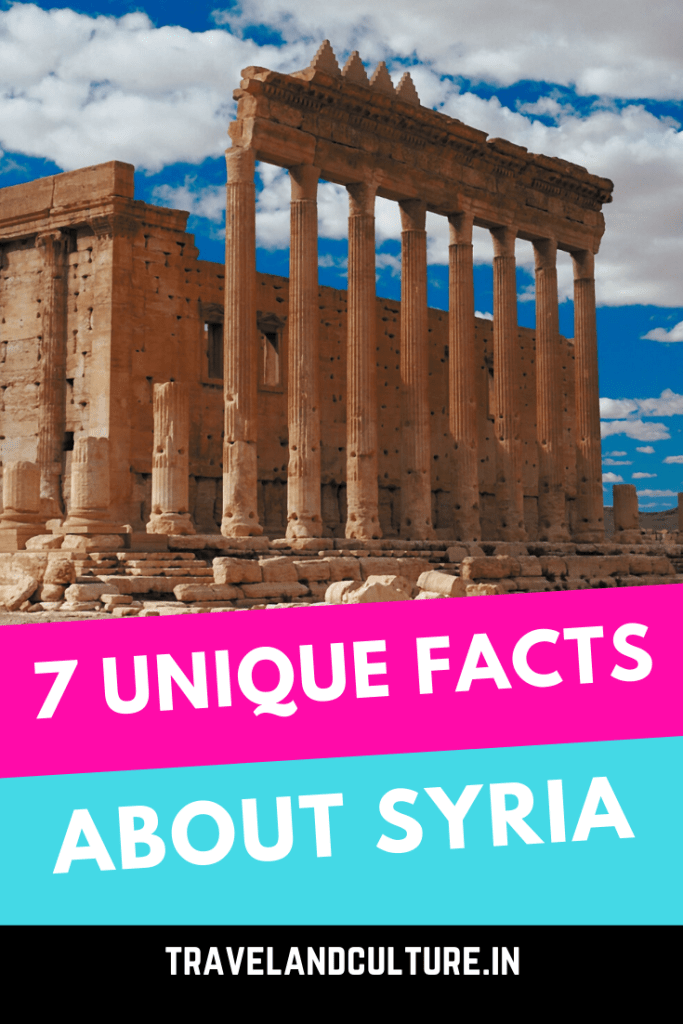 7 unique facts about Syria. Syria is a middle-east, arab nation In this post you will find unusual facts which nobody talks about.