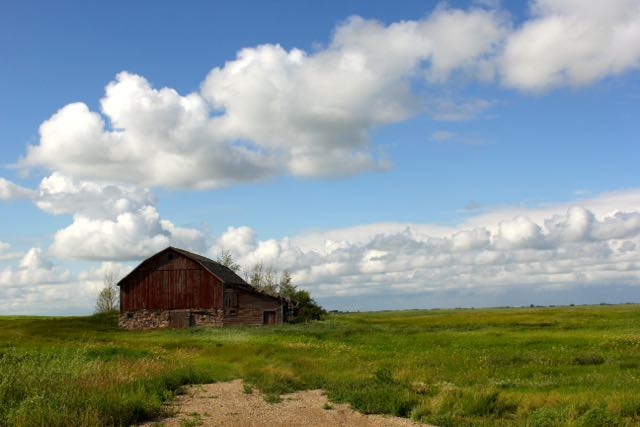 Red barn Saskatchewan