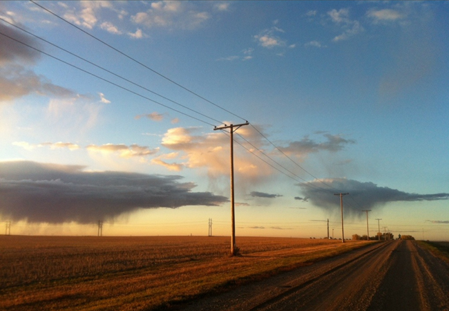 Golden hour on the prairies header
