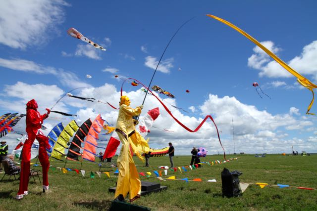 Stilt walkers at the Windscape Kite Festival Swift Current,