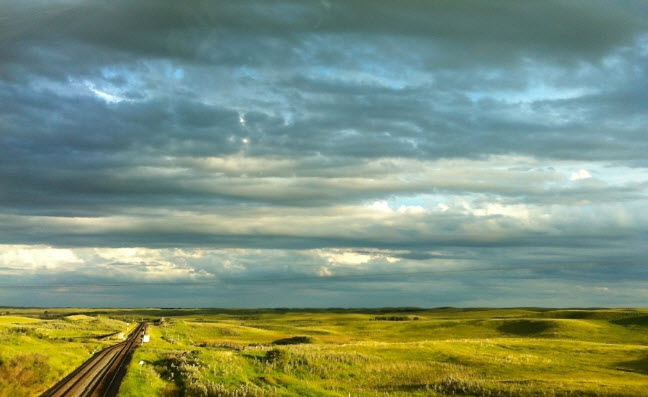 golden hour on the prairies, Saskatchewan