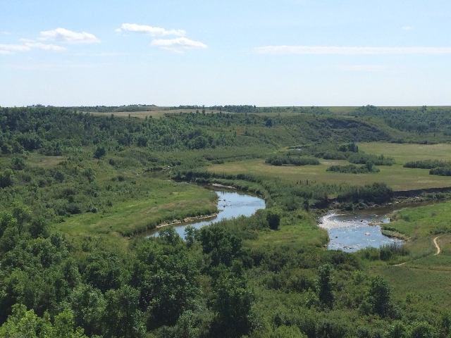 View from above Wascana Trails
