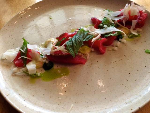 Beef carpaccio Little Grouse