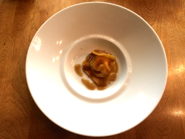 Handmade egg yolk Raviolo Little Grouse on the Prairie Saskatoon Jenn Smith Nelson