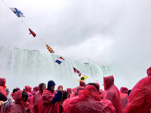 It's a full house voyaging to the falls with Hornblower Niagara. Jenn Smith Nelson