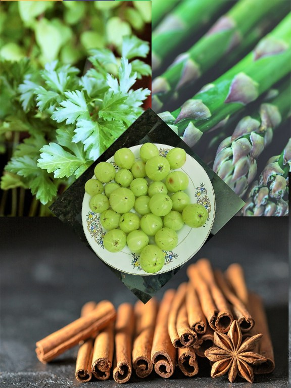 Natural Home Remedies for PCOS and Hypothyroidism. Indian Gooseberry, Coriander , Cinnamon and Asparagus for PCOS and Hypothyroidism