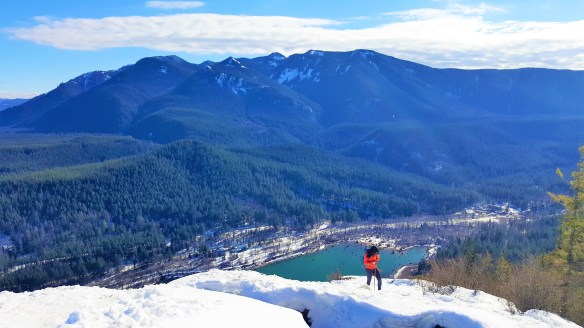 Rattlesnake Ledge in Feb and March 2019, near to Seattle