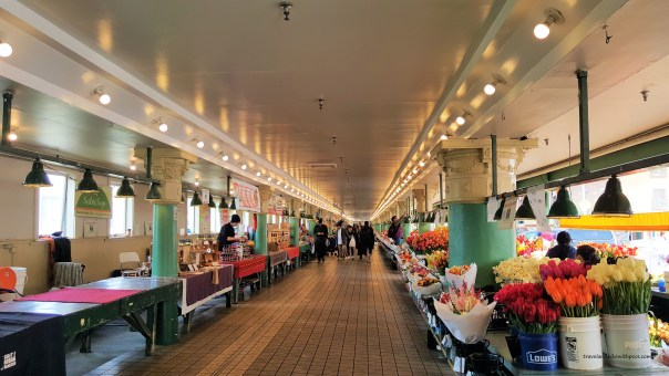 Inside Pike Public Market at Seattle Downtown. Must visit places in seattle.