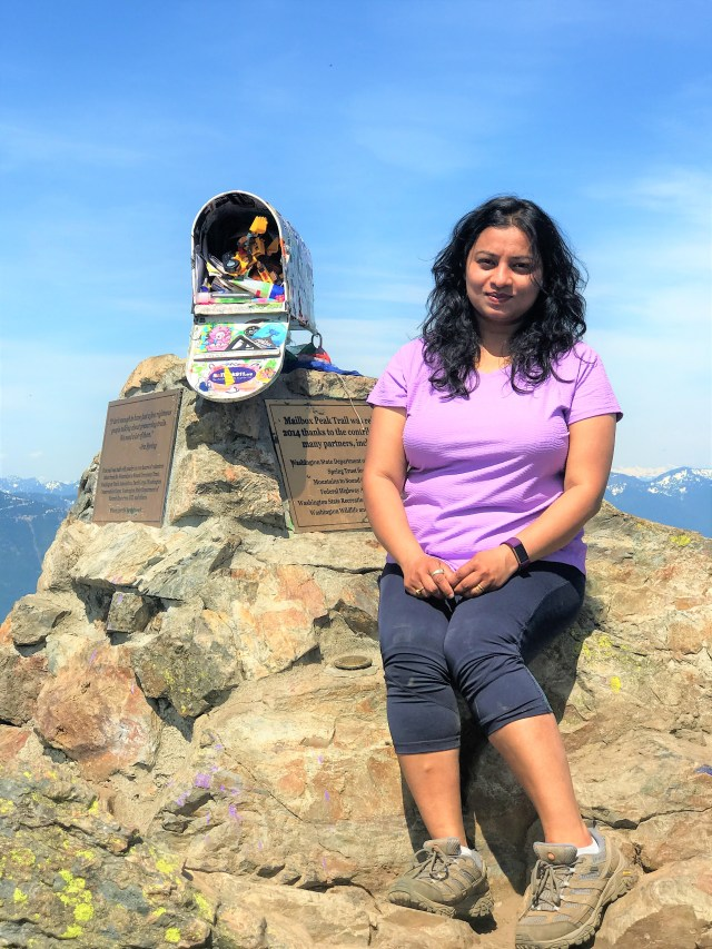 Myself at Mailbox peak