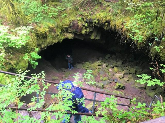 Main Entrance at Ape Caves