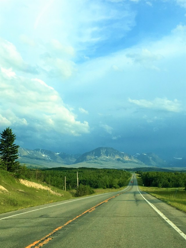 Dramatic Skies on Highway 89 towards Babb.