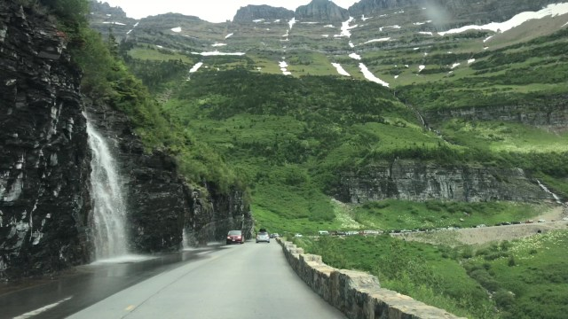 Driving the Going To The Sun Road Glacier National Park