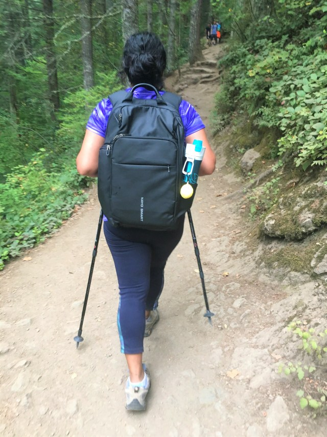 Hiking with Nayo Almighty Travel Backpack