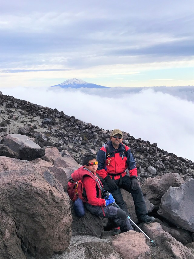 Mount St Helens Summit with Kid