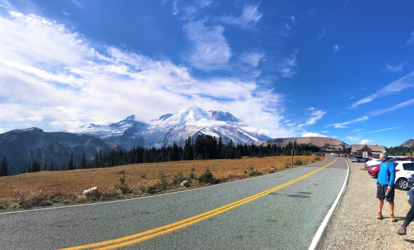 Splendid view of Mount Rainier at Sunrise Parking Lot Mount Rainier Visitor Center