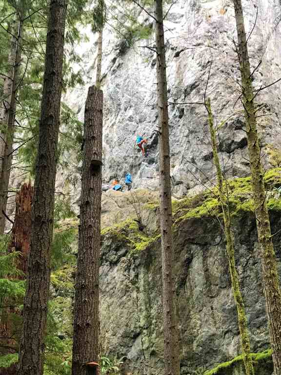 Rock Climbers Climbing the Little Si - Best Hikes near Seattle