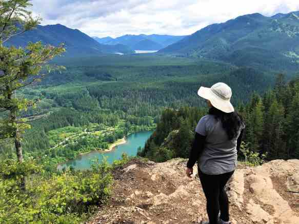 View from Middle Ledge-Rattlesnake Lake Ledge trail - Best Hikes Near Seattle