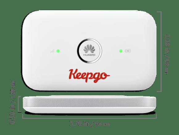 keepgo router wifi: connessione internet in viaggio