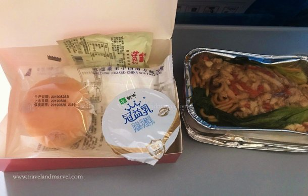 mangiare in aereo China Southern Airlines
