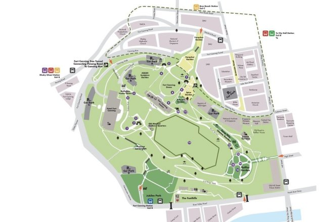 Fort Canning park map