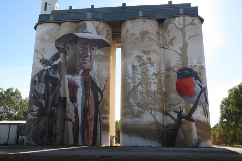 Wirrabara silo art SA Australie