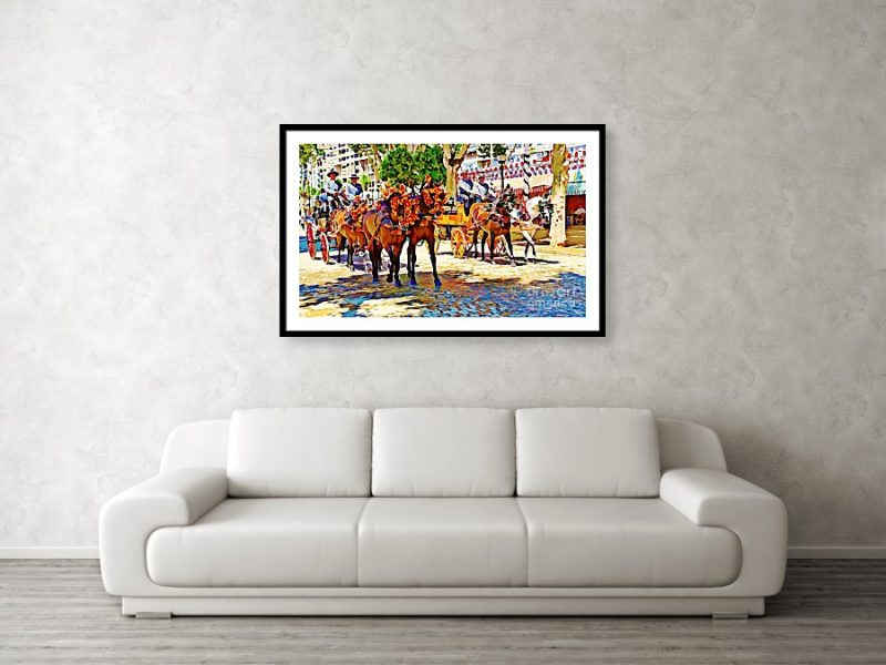 May Day fair in Sevilla, Spain framed print