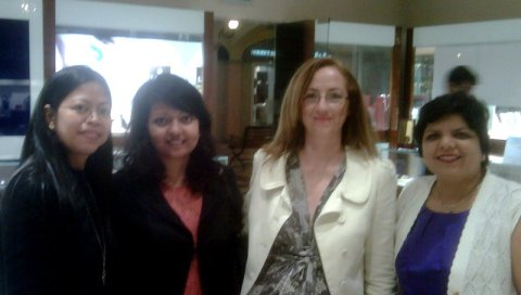 L to R: Flor from the Idea Agency, Jan D'Sa, Marissa Woods of Image Factor & and Oofrish Contractor from Al Liali Jewelry
