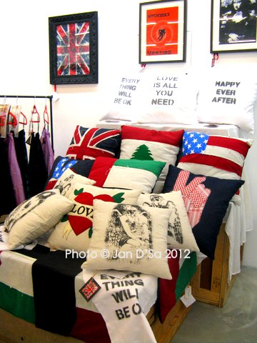 Comic Cushions and handwork by Gorgeoustuff