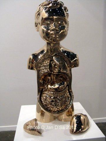 'Anatomic' Polished Bronze sculpture 2011 by Farhad Moshiri