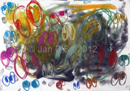The 2nd in the series. All those eyes! Dated 10th Feb. 2012. ©