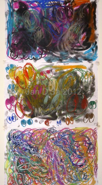 The triad. An exhaustion and an explosion of colours. Dated 10th Feb. 2012. ©