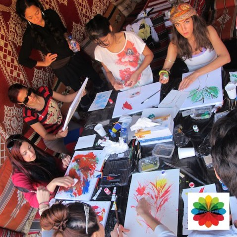 Judging from the turnout at the art workshop as compared to the writing workshop, I am assuming that, in general, people are attracted to colours as opposed to the word? Or is it a question of the 'word' being a very out-of-the-comfort zone place for people to go? Photo Source: Evolve Events