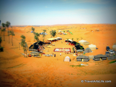 Up the hill, away from the camp, this is what the whole eco-friendly camp looks like.